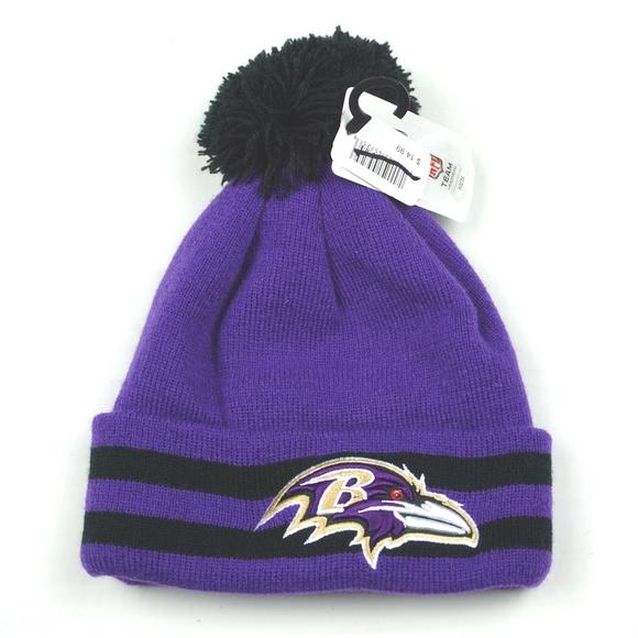 8192fad8 NFL Team Baltimore Ravens Beanie Hat Kids NWT NWT